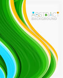 Abstract realistic solid wave background Royalty Free Stock Photos