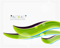 Abstract realistic solid wave background Stock Photo