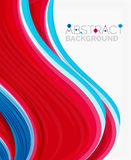 Abstract realistic solid wave background Stock Image