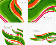 Abstract realistic solid wave background Royalty Free Stock Photography