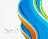 Abstract realistic solid wave background Royalty Free Stock Image