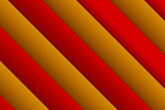 Abstract rectangle background. Backdrop from red and gold over. Lapping rectangle geometric objects. 3D effect on red and orange lines with shadow Stock Image