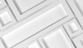 Abstract Rectangle Frames Background. 3D Rendering Of Abstract Rectangle Frames Background Closeup Stock Photography
