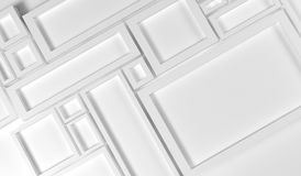 Abstract Rectangle Frames Background. 3D Rendering Of Abstract Rectangle Frames Background Closeup royalty free illustration