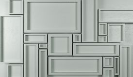 Abstract Rectangle Frames Background. 3D Rendering Of Abstract Rectangle Frames Background Top View Stock Photos