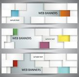 Abstract rectangles banners Royalty Free Stock Photography