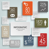 Abstract rectangles infographic template Royalty Free Stock Photography