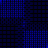 Abstract rectangles pattern dark blue black shifted Stock Images