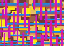 Abstract rectangles purple blue yellow Royalty Free Stock Image