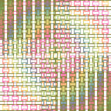 Abstract rectangles and stripes pattern multicolored netting Royalty Free Stock Photos