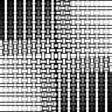 Abstract rectangles and stripes pattern white gray black netting Royalty Free Stock Photography