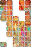 Abstract rectangular design patterns. Abstract rectangular colourful design patterns Stock Image