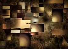 Abstract Rectangular Shapes Composition Royalty Free Stock Photography