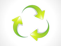 Abstract recycle icon Royalty Free Stock Photo