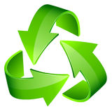Abstract recycle sign 3d Royalty Free Stock Images