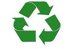 Abstract recycle symbol stock photography