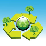 Abstract recycle symbol Royalty Free Stock Photography