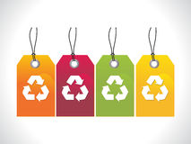 Abstract recycle tag Royalty Free Stock Photo