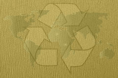 Abstract recycle world map Royalty Free Stock Photo