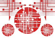 Abstract red Royalty Free Stock Images