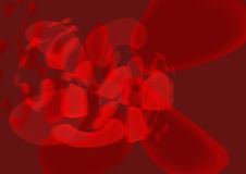 Abstract in red. Abstract digital art in red Royalty Free Stock Images