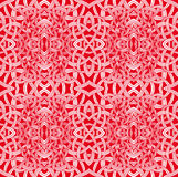 Abstract red. Abstract complex red and white pattern. Seamless texture of arabesque Royalty Free Stock Photography