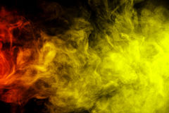 Free Abstract Red And Yellow Smoke Hookah On A Black Background. Royalty Free Stock Photo - 60458115