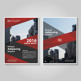 Abstract Red annual report Leaflet Brochure Flyer template design, book cover layout design Royalty Free Stock Photos