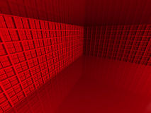 Abstract Red Architecture Wall Background. 3d Render Illustration Stock Photo