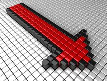 Abstract red arrow Royalty Free Stock Image