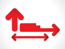 Abstract red arrow based stickers Stock Photo