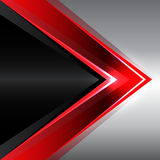 Abstract red arrow on black metal design modern background vector Royalty Free Stock Image