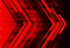 Abstract red arrow design modern technology futuristic background vector. Stock Photo