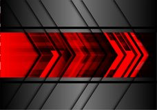 Abstract red arrow design modern technology futuristic background vector. Stock Image
