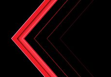 Abstract red arrow direction on black design modern futuristic background vector vector illustration