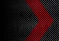 Abstract red arrow direction on dark gray diamond mesh design modern futuristic background vector. Illustration vector illustration