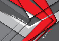 Abstract red arrow gray design technology modern background vector. Royalty Free Stock Photo