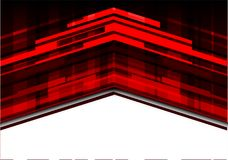 Abstract red arrow on white design modern technology futuristic background vector. Stock Photos