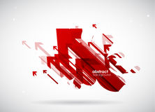 Abstract red arrows background wallpaper. Stock Image