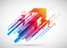 Abstract red arrows background wallpaper. Vector art Stock Photos