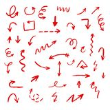 Abstract arrows and doodles royalty free stock images