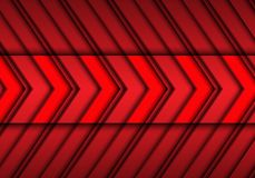 Abstract red arrows pattern design modern futuristic background texture vector. Illustration Royalty Free Stock Image