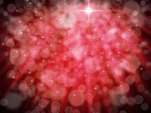 Abstract of Red Aura White bokeh Stock Image