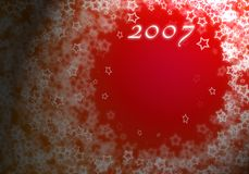 Abstract red background. For new 2007 year royalty free illustration