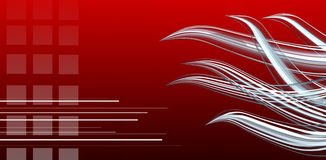 Abstract red background. Dynamic abstract composition on red gradient, elegant and electric Royalty Free Stock Images