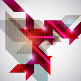 Abstract red background. Abstract background of red geometric shapes Royalty Free Stock Image