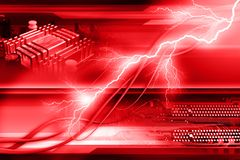 Abstract red background. Computer generated abstract background with computer components Royalty Free Stock Photo