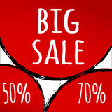 Abstract Red background Big sale Royalty Free Stock Photography