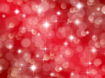 Abstract red background with boke and stars Royalty Free Stock Images