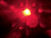 Abstract red background.Bright flash of light.Sun.Galaxy. Stars. Outer space.Laser beam.Bokeh effect stock image